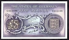 Guernsey. Five Pounds, C012199, (1970s), Extremely Fine.