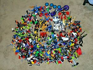 Lego Bionicle Lot Parts - hero factory, armor, masks, weapons