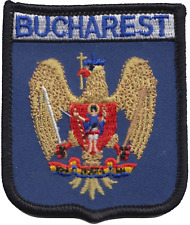 Romania Bucharest City Coat of Arms Shield Embroidered Patch Badge