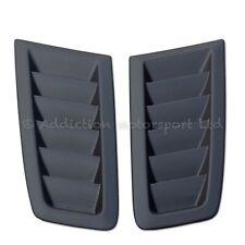 Pair of Ford Focus RS MK2 100% Full 3K Plain Weave Carbon Bonnet Vents in Matte