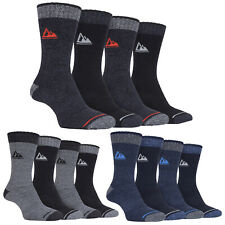 STORM BLOC - 4 Pack Mens Cushioned Thick Hiking Work Walking Summer Boot Socks