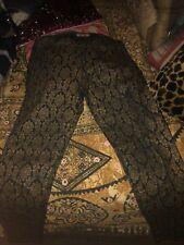 Beulah Cool Copper +Spider Black Retro Skinny Pants Size Xxs/ Xs