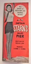 Vintage Captain Starn's Inlet Pier Boat Brochure Atlantic City Margate NJ