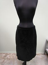 Kate Hill Suede Skirt Lined Black Casual Pencil Straight Women's Size 10 Euc