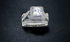 Princess-Cut Cubic Zirconia Bridal Ring Set Size 10