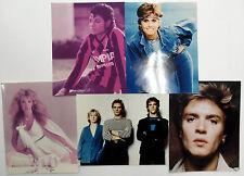 Lot Of (5) 80's POP STARS Color 8 x 10's Michael JACKSON Olivia Newton JOHN etc.