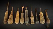 lot de 9 outils anciens de cordonnier VOIR PHOTOS