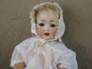 Antique German Koenig & Wernicke Character Baby Doll 99 Bisque Head Rare #L2