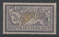"FRANCE STAMP TIMBRE N° 122 "" TYPE MERSON 2F VIOLET ET JAUNE "" NEUF x TTB  K993"
