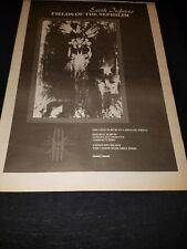 Earth Inferno Fields Of The Nephilim Rare Original Uk Promo Poster Ad Framed!