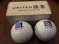 United Airlines Official Airline Of The PGA TOUR set Of 2 logo Golf Balls