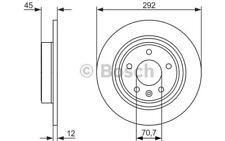 1x BOSCH Disco de Freno Trasero Pleno 292mm Para OPEL ASTRA 0 986 479 C58
