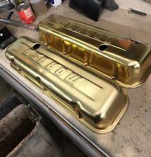 Moroso gold valve covers Big Block chevy