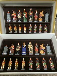Studio Anne Carlton The Battle Of Culloden Full Painted Chess Set NEW (SAC)