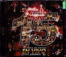 Los Cuates de Sinaloa 15 Anos de Exitos En Vivo Phoenix Az CD ORIGINAL New Nuevo