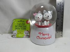 "2013 Hallmark Jingle and Bell Interactive 5"" Snow Globe"