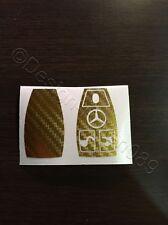 Carbonio Cromo Oro Pellicola Decorazione Chiave Mercedes C E AMG Brabus W204 CLK