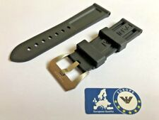 Rubber Strap for Panerai Officine Luminor Submersible Black 24mm with Buckle PA2