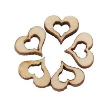 Blank Hollow Heart Wedding Decoration DIY Embellishments Wooden Crafts