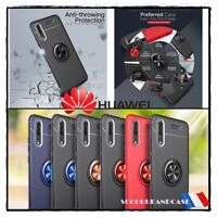 Etui Coque housse magnétique Finger Ring Case Cover Huawei Honor (All models)