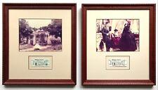 Vintage Set of 2 Framed Original GONE WITH THE WIND Movie Ticket & Photo Sets