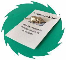 Glücksbringer  2cm Bronze Portmonee Maus Geldbörse Maus