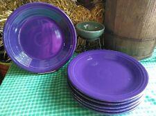 """set lot 6 DINNER PLATES plum purple HOMER LAUGHLIN FIESTA 10.5"""""""
