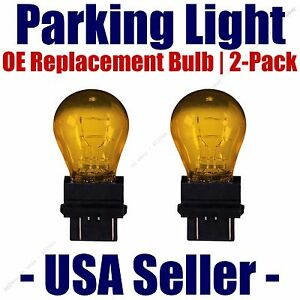 Parking Light Bulb 2-pack OE Replacement Fits Listed Chrysler Vehicles 3757NAK