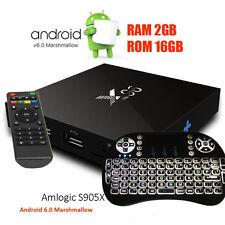 X96 Amlogic S905X 2/16GB TV Box 64bit 4K2K Dolby Android 6 + Backlight Tastatur