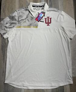 NEW ADIDAS Aeroready Indiana Hoosiers CAMO ONFIELD Polo Shirt IU SZ XL $100 Rare