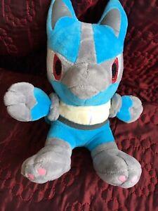 "Pokemon Toy Plush Stuffed Toy Blue Grey 8"" Tall Christmas"