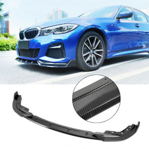 For 19-20 BMW 3 Series G20 M Sport M340i Front Bumper Lip Spoiler Carbon Style