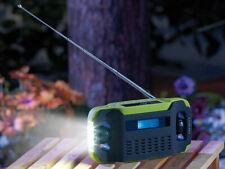 Survival Kurbel Notfallradio mit LED-Lampe,Solar + Dynamo,Notfallausrüstung,