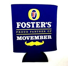 3pk Foster's Beer Movember Cooler Coozie Can Insulated Drink Holder Mug Sleeve