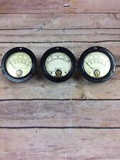 3 Vintage Milliamperes Gauges Industrial Steampunk