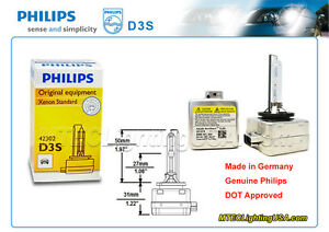 GENUINE PHILIPS D3S 42302 C1 XENSTART XENON HID LIGHT BULB LAMP MADE IN GERMANY