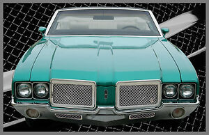 1970-1972 Olds Cutlass chrome mesh grille grill old school 4 piece