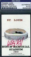Whitey Herzog Signed Cardinals Busch Stadium Psa/dna Certed Autograph Authentic