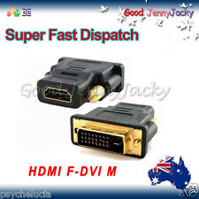 Gold Plated DVI 24+1 Pin DVI-D Male to HDMI Female Adapter Coupler Audio/Video