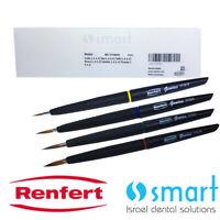 Dental lab Natural hair bristle ceramic brush Building up Renfert Genius Set 4pc