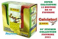 SUPER CALCIATORI PANINI 2021 DISPLAY BOX 12 BUSTINE 360 FIGURINE +120 SPECIALI