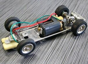 SLOT CAR REVELL Home Track Aluminum Complete CHASSIS VINTAGE 1/32 SCALE #1