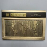Vintage SEIKO World Time Touch Sensor Clock - Made in Japan