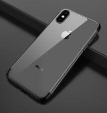 Housse Etui Coque Bumper Antichocs gel silicone TPU Apple iPhone X noir