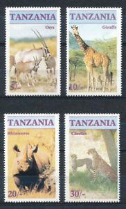 Tanzania - Wild Animals Cat Stamps Set MNH (1986)