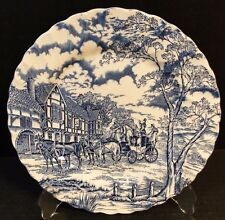 "Myott Royal Mail Blue Staffordshire Dinner Plate 10"" EXCELLENT!"