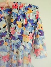 Vintage Ian Burns Floral  '70s/'80s Tea Dress. Pansies. Size 8-10