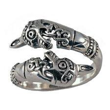 toller Oseberg Ring 925 Silber 19-22 entspr. Gr. 60-70 Mittelalter Wikingerring