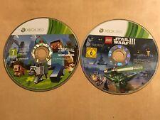 2 PAL XBOX 360 GAME DISCS MINECRAFT & LEGO STAR WARS III THE CLONE WARS