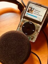 Apple iPod Classic 5th Gen 128 GB SSD Memory, Modified, Transparent. Wolfson